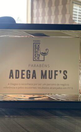 Diageo reconhece Adega Muf's como parceiro de negócios!