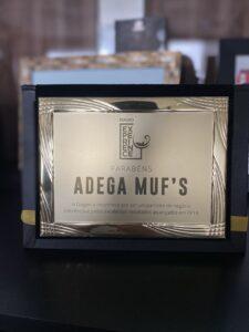 Reconhecimento distribuidora oficial Diageo / Adega Muf's